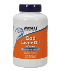 NOW Cod Liver Oil 650 mg / 250Softgels.