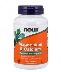 NOW Magnesium & Calcium 2:1 / 100Tabs.
