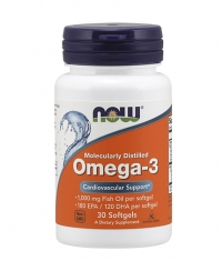 NOW Omega 3 Fish Oil 1000 mg. / 30 Softgels