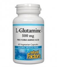 NATURAL FACTORS L-Glutamine 500mg. / 60 Vcaps.
