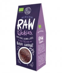 DIET FOOD Raw Cookies with Black Currant