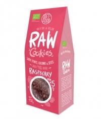 DIET FOOD Raw Cookies with Raspberries
