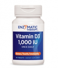 ENZYMATIC THERAPY Vitamin D3 1000IU / 90 Tabs.