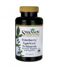 SWANSON Elderberry/Agaricus/Echinacea (Immune Support) / 120 Caps
