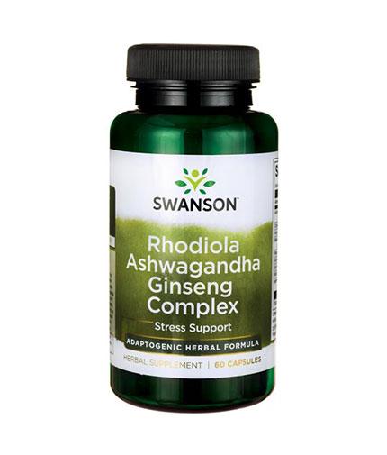 SWANSON Rhodiola Ashwagandha Ginseng Complex / 60 Caps