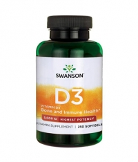 SWANSON Vitamin D-3 / Highest Potency 5000IU / 250 Soft