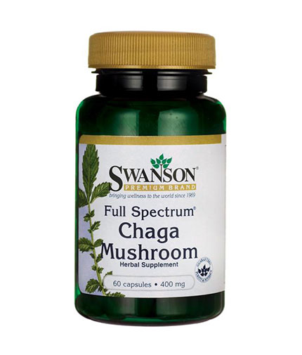SWANSON Full Spectrum Chaga Mushroom 400mg. / 60 Caps