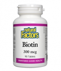 NATURAL FACTORS Biotin 300mcg / 90Tabs.