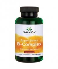 SWANSON Super Stress B-Complex with Vitamin C / 100 Caps
