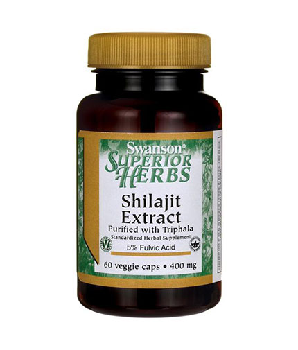 SWANSON Shilajit Extract 400mg. / 60 Vcaps