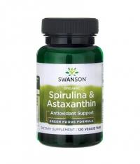 SWANSON Organic Spirulina & Astaxanthin / 120 Vtabs
