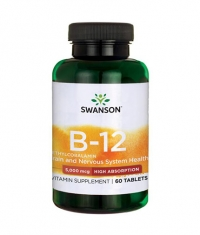 SWANSON Vitamin B-12 Methylcobalamin - High Absorption 5000mcg. / 60 Tabs