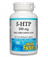 NATURAL FACTORS 5-HTP 100mg Time-Release / 60 Caps.