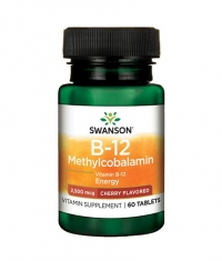 SWANSON Vitamin B-12 Methylcobalamin - Cherry Flavored / 60 Tabs