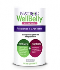 NATROL Well Belly Probiotics + Cranberry For Women / 30 Caps