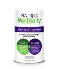 NATROL Well Belly Probiotics + Enzymes / 30 Caps