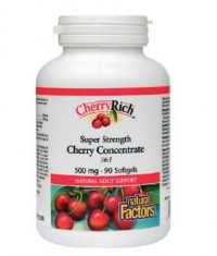 NATURAL FACTORS Super Strength Cherry Concentrate 500mg / 90 Softg.