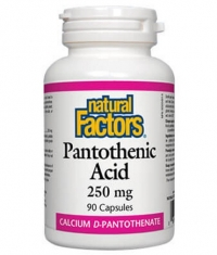 NATURAL FACTORS Pantothenic Acid 250mg / 90 Caps