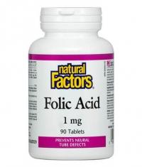 NATURAL FACTORS Folic Acid 1mg / 90 Tabs