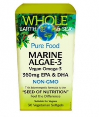 NATURAL FACTORS Whole Earth & Sea Marine Algae-3 / 30Vegetarian softgels