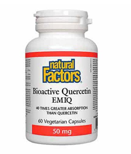 NATURAL FACTORS Bioactive Quercetin EMIQ 50mg / 60 Vcaps