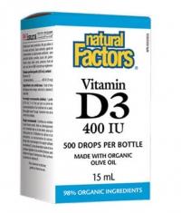 NATURAL FACTORS Vitamin D3 400 IU / 15ml