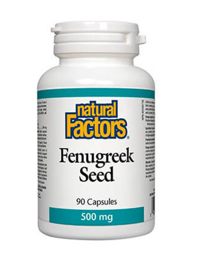 NATURAL FACTORS Fenugreek Seed 500mg / 90 Caps