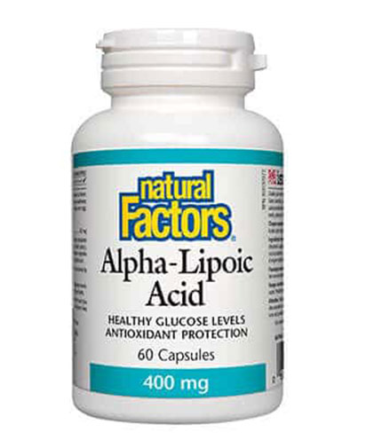 NATURAL FACTORS Alpha-Lipoic Acid 400mg / 60 Caps