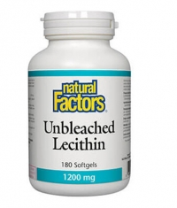 NATURAL FACTORS Unbleached Lecithin 1200mg / 180 Softg
