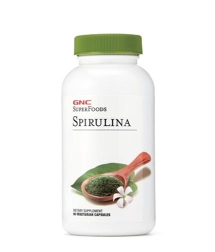 GNC Super Foods Spirulina 500mg / 90 Vcaps.