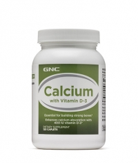 GNC Calcium with Vitamin D-3 / 120 Caps.