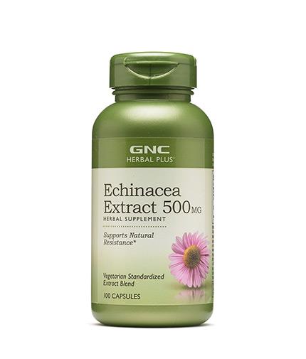 GNC Herbal Plus Echinacea Extract 500 mg / 100 Caps.