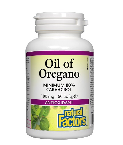 NATURAL FACTORS Oil of Oregano 180mg. / 60 Softgels