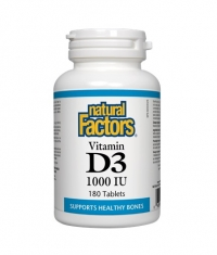 NATURAL FACTORS Vitamin D3 1000 IU / 180 Tabs.