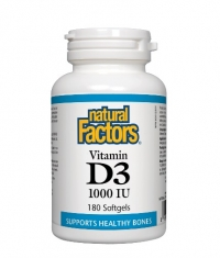 NATURAL FACTORS Vitamin D3 1000 IU / 180 Softgels