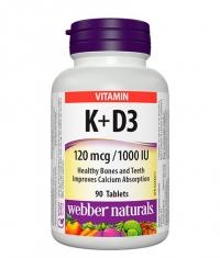 WEBBER NATURALS Vitamins K + D3 / 90 Tabs