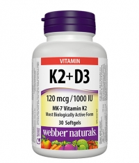 WEBBER NATURALS Vitamins K2 + D3 / 30 Softg.