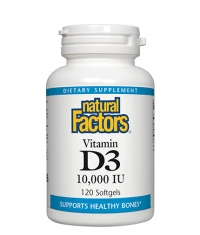 NATURAL FACTORS Vitamin D3 10000 IU / 120 Softgels