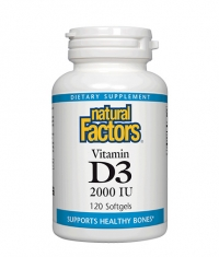 NATURAL FACTORS Vitamin D3 2000 IU / 120 Softgels