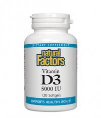 NATURAL FACTORS Vitamin D3 5000 IU / 120 Softgels