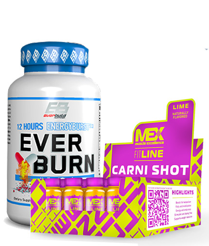 PROMO STACK Ever Burn & Carni-Shot 1+1 FREE Promo Stack