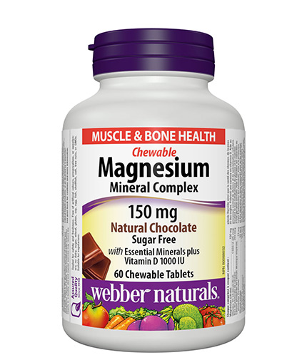 WEBBER NATURALS Magnesium Mineral Complex 150mg. / 60 Chewable tabs