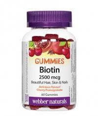 WEBBER NATURALS Biotin Gummies 2500mcg. / 60 Gummies