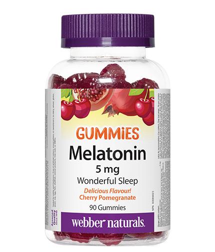 WEBBER NATURALS Melatonin Gummies 5mg. / 90 Gummies
