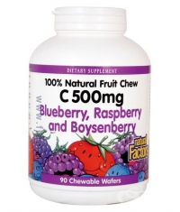 NATURAL FACTORS Vitamin C 500mg Chewable Berry / 90 Tabs