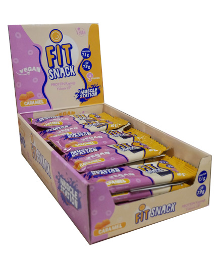 MUSCLE STATION Fit Snack Vegan Caramel Box 24x40g