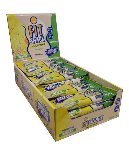 MUSCLE STATION Fit Snack Banana Box 24x40g