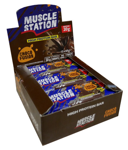 MUSCLE STATION Choco Fusion Box 12x65g