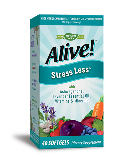 NATURES WAY Alive Stress Less / 40 Softgels