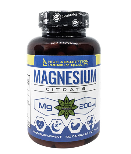 CVETITA HERBAL Magnesium Citrate 200mg / 100 Caps